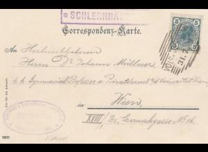 Ansichtskarte Schlernhäuser, Bozen, nach Wien 1906, Alpenverein