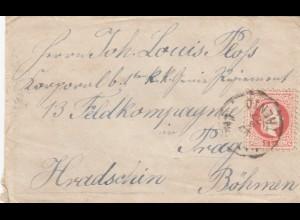 1877: Trento/Matarello nach Prag mit Briefinhalt