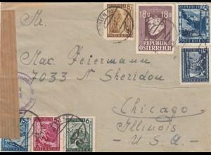 1947 Wien nach Chicago, Zensur