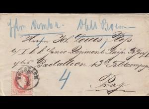 1876: Hossbach nach Prag an Feldkompanie