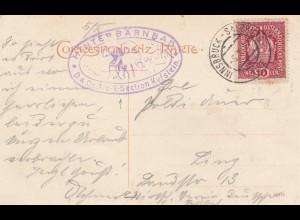 1917: Ansichtskarte Hinterbärnbad nach Linz, Kaisergebirge Griesener Kar