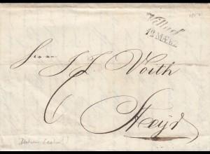 Brief aus Villach 1850 nach Steyr, viel Textinhalt