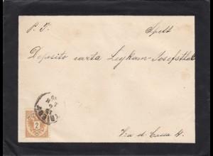 1889: Trieste, Todesanzeige Burgstaller/Bocchi inliegend