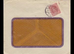 1918: Wien, Fensterbrief, Perfin