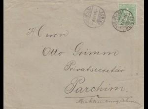 1880: Brief aus Zürich nach Parchim/Mecklenburg