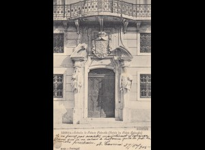 Ansichtskarte Lisboa 1905, Stempel Karlsbad und München
