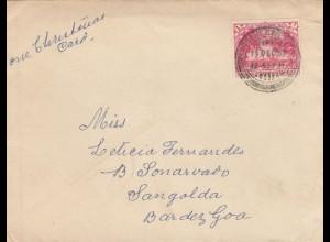 letter 1957: Pakistan to Sangolda, Bar des Goa