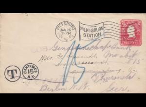 USA: 1x Pittsburg 1905 - Wilkingsburg; 1x Henderson, Minn 1918 to Breda/Holland