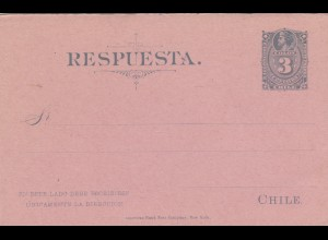 Chile: post card with answer card, together, unused