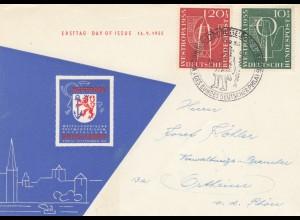 Bund: 1955 FDC Düsseldorf nach Ostheim