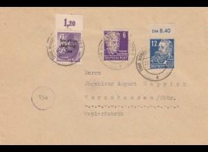 SBZ: Magdeburg-Sudenburg 1948 nach Wernshausen, Papierfabrik