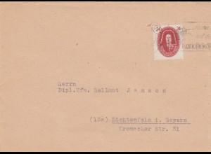 SBZ: 1949: Brief Leipzig, Achtet auf den Kartoffelkäfer nach Lichtenfels i. Bay.