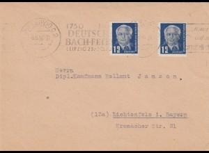DDR: 1950: Leipzig Deutsche Bach-Feiern, Kartoffelkäfer, nach Lichtenfels/Bayern