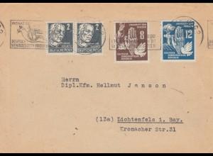 DDR: 1950: Monat der Dt-Sowj. Freundschaft nach Lichtenfels/Bayern