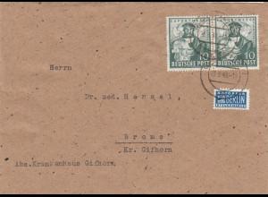 Brief Gifhorn 1949 nach Brome