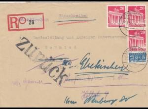 Einschreiben Ehekirchen 1950 nach München und zurück