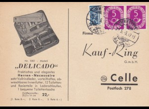 Postkarte 1953 Immekeppel/Köln nach Celle