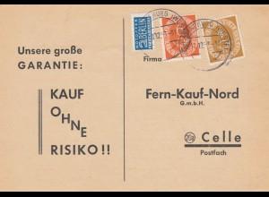 Postkarte Horneburg 1953 nach Celle