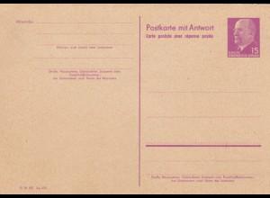 Ganzsache mit Antwortkarte, ungebraucht, P74