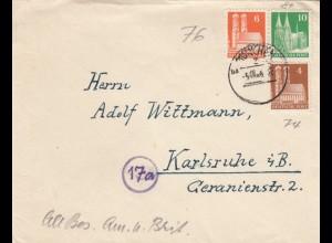 Brief München 1948 nach Karlsruhe