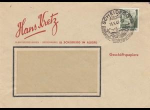 Brief von 1948, Scheidegg