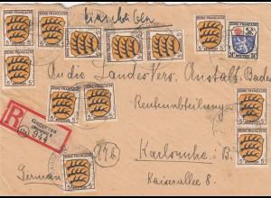 Einschreiben aus Gaggenau nach Karlsruhe
