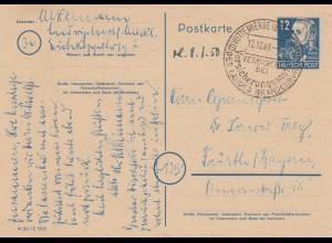 Ganzsache Wittenberge 1949 nach Fürth