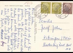 Ansichtskarte Bad Neustadt/Saale 1956 nach Kitzingen