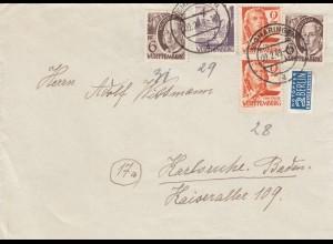 Brief von Sigmaringen 1949 nach Karlsruhe