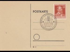 1948 Postkarte München, Esperanto Kongress