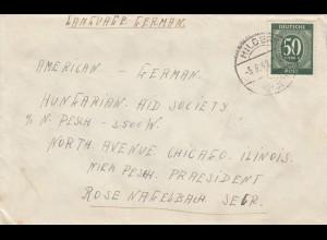 Brief 1948 aus Hilders/Fulda nach Ilinois/Chicago/USA