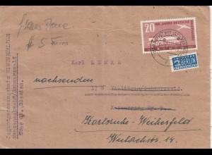 Brief 1949 aus Menzenschwand/Schwarzwald nach Karlsruhe