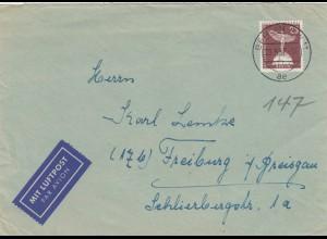 Brief 1957: Luftpost Berlin nach Freiburg