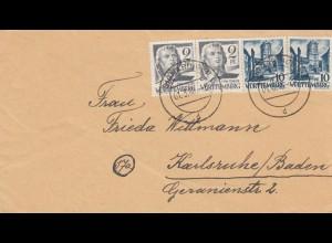 Brief 1948 Sigmaringen nach Karlsruhe