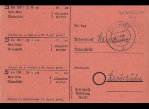 1947: Hassfurt nach Karlsruhe 1947, Frei durch Ablösung Reich, Schweinfurt