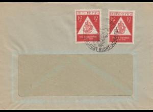 SBZ 1948 Erfurt, Sonderstempel, Tag der Briefmarke