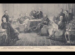 Ansichtskarte Friedensschluss am 10.5.1871 Frankfurt Feldpost - Untereisenheim