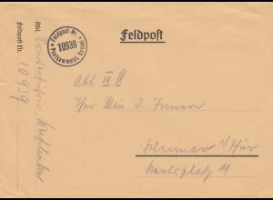 Feldpost Nr. 10939 als Brief nach Weimar