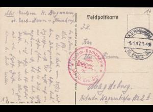 3x Ansichtskarte Frankreich: Somme-Py, Vouziers, Oberkommando 3. Armee