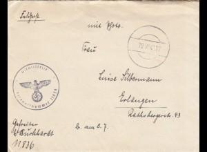 FP Brief FPNr. 11836 nach Erlangen 1941 mit Briefinhalt