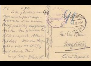 2x Ansichtskarte Belgien: Liège, Lüttich, Landstrum 1915/16