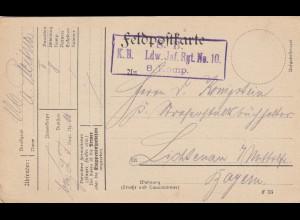 4x FP-Karten: 6. Armee, aus. milit. Gründen verzögert, Kraftwerk, Inf. Reg. 10