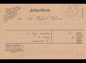 Feldpostkarte 1915 Eysölden 1915
