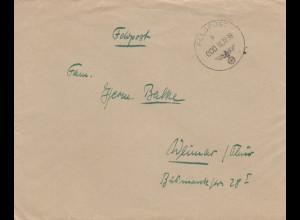Feldpost 16.10.1939, FPNr. 26117 nach Weimar