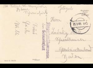 Osterkarte 1940 Fliegerhorstkompanie Schweinfurt als Feldpost