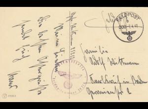 Osterkarte 1941, FP Nr. 25212