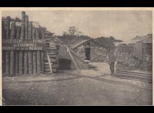 4x Ansichtskarte Fort Loucin, Offizier, Wunschzettel, frz. Bunkeranlage