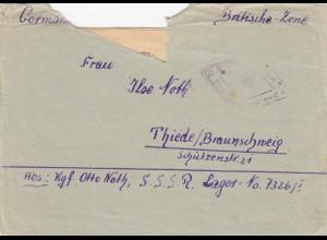 1949: UDSSR SSSR Lager nach Thiede/Braunschweig
