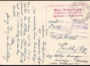 3x Ansichtskarte Bayr. Rotes Kreuz, Ruhpolding nach Fürth