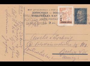 2x Ganzsache Jugoslavien 1949/51